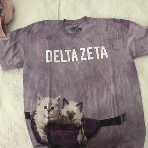 Tops - Delta Zeta Cat T-shirt